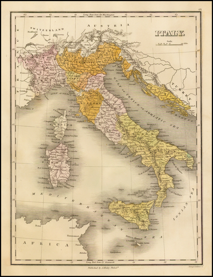 5-Italy and Balearic Islands Map By Anthony Finley