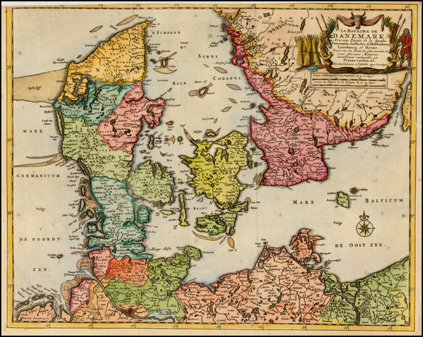 76-Scandinavia and Denmark Map By Pieter van der Aa