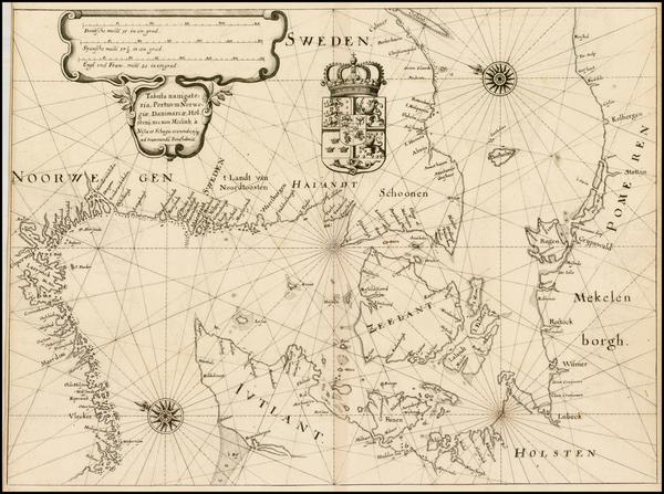 31-Germany, Scandinavia and Denmark Map By Matheus Merian