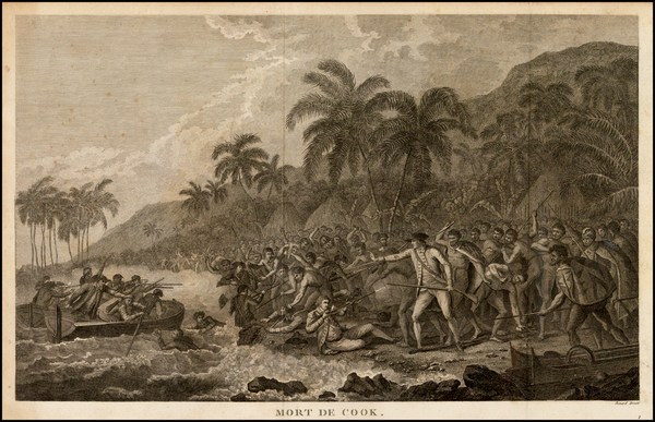 88-Hawaii and Hawaii Map By James Cook