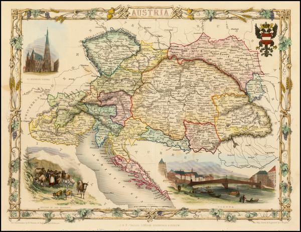 15-Austria Map By John Tallis