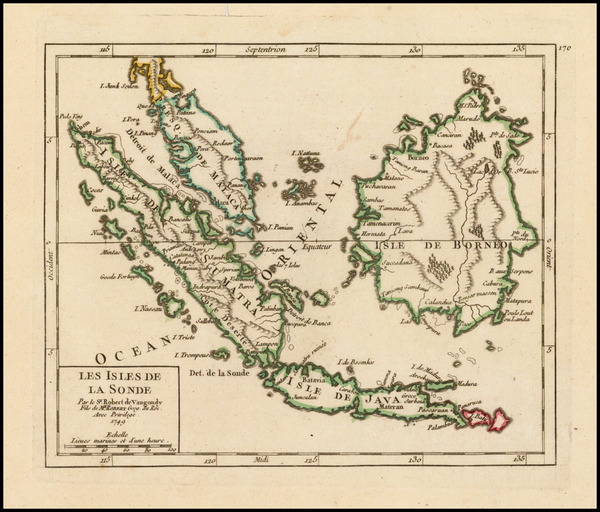 Southeast Asia and Indonesia Map By Gilles Robert de Vaugondy