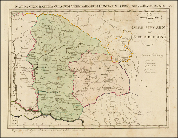 Hungary Map By Franz Johann Joseph von Reilly