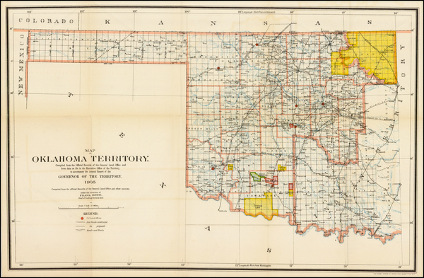 56-Plains, Oklahoma & Indian Territory and Southwest Map By General Land Office