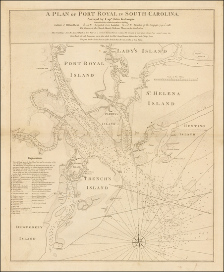 21-Southeast and South Carolina Map By Thomas Jefferys  &  William Faden
