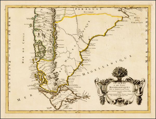 87-South America and Argentina Map By Guillaume Sanson