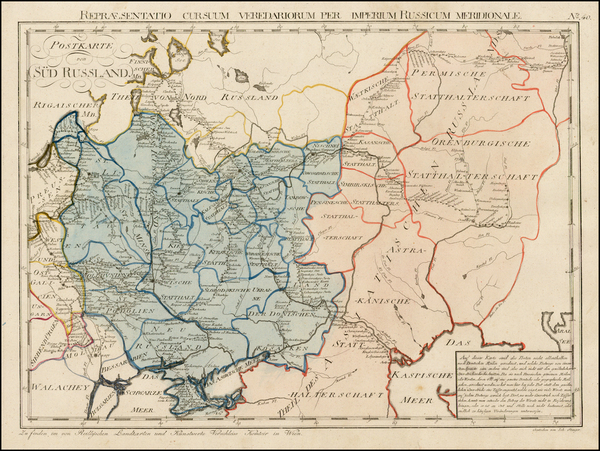 68-Russia and Ukraine Map By Franz Johann Joseph von Reilly