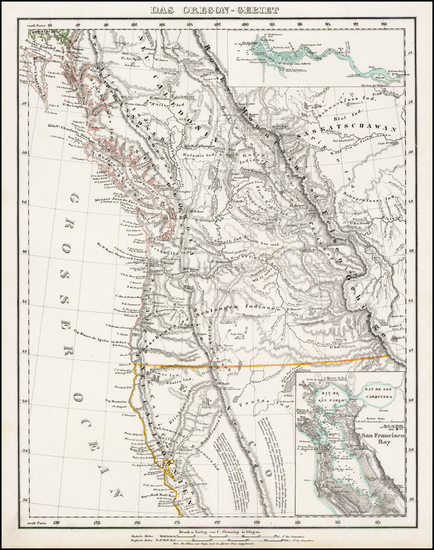 95-Oregon, Canada and California Map By Carl Flemming