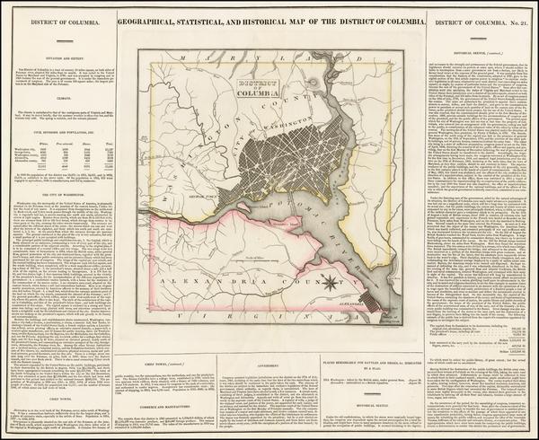 28-Washington, D.C. Map By Henry Charles Carey  &  Isaac Lea