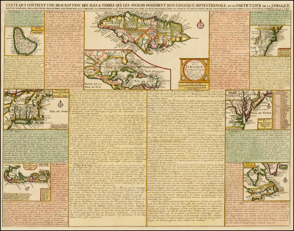 30-New England, Mid-Atlantic, Southeast and Caribbean Map By Henri Chatelain