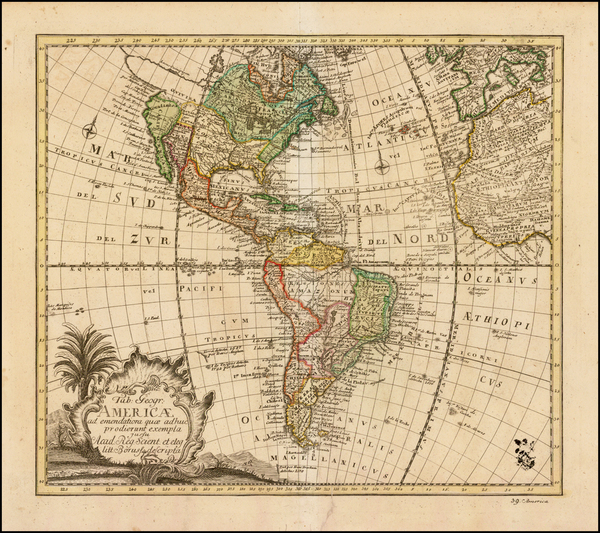 30-South America and America Map By Leonard Von Euler