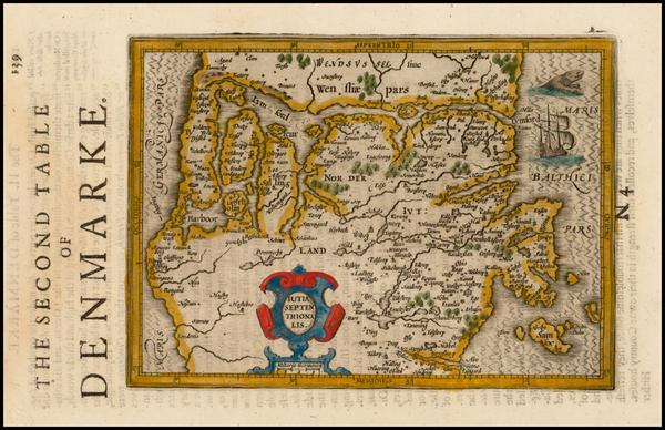 79-Denmark Map By Henricus Hondius - Gerhard Mercator