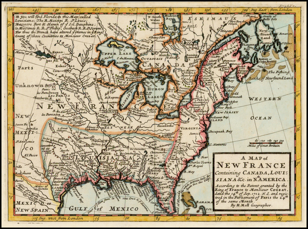72-United States, Midwest and Plains Map By Herman Moll