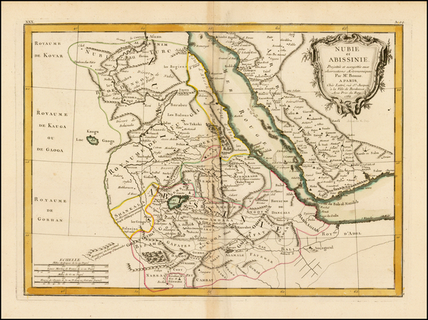 Middle East, Arabian Peninsula and Egypt Map By Jean Lattre