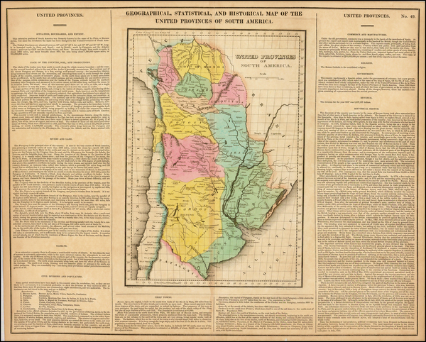 80-South America and Argentina Map By Henry Charles Carey  &  Isaac Lea