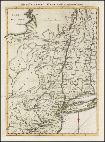 10-New England, Connecticut, Vermont, New York State, New Jersey and Pennsylvania Map By Gentleman