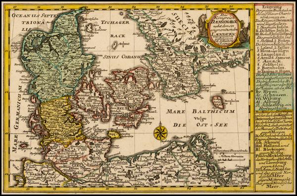 19-Scandinavia and Denmark Map By Johann George Schreiber