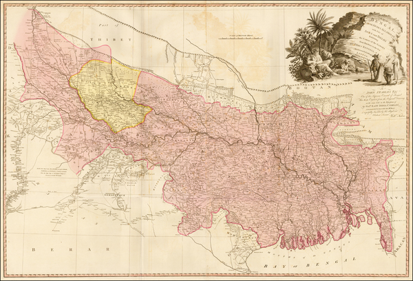 India Map By William Faden