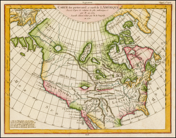 56-Alaska, North America and Canada Map By Denis Diderot / Didier Robert de Vaugondy