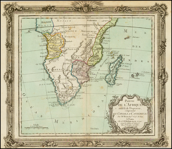 South Africa Map By Louis Brion de la Tour