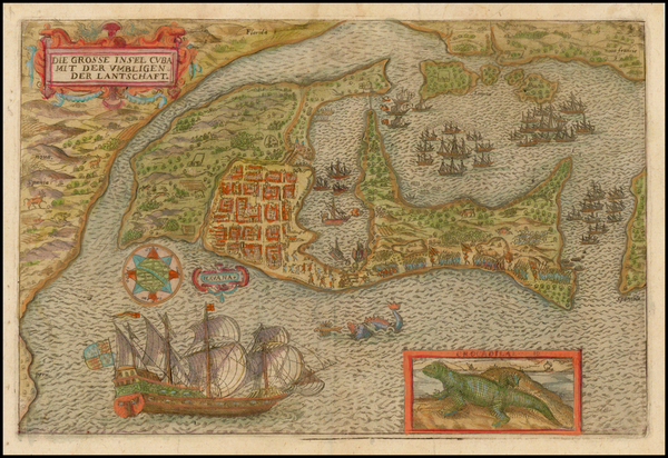 14-Florida, Southeast, Caribbean and Central America Map By Francis Drake