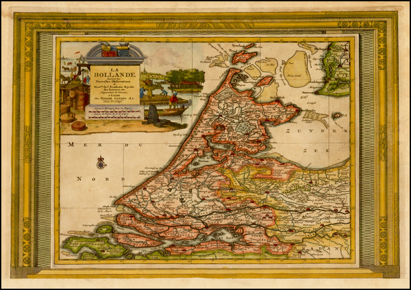 12-Netherlands Map By Pieter van der Aa