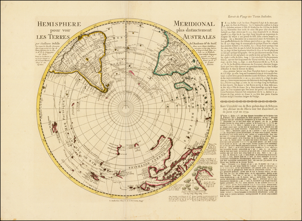 60-Southern Hemisphere, Polar Maps, Australia and New Zealand Map By Reiner & Joshua Ottens