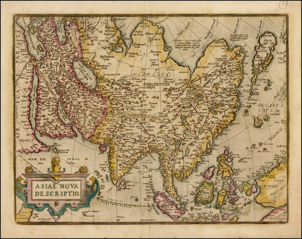 66-Asia, Asia, Australia & Oceania and Oceania Map By Abraham Ortelius