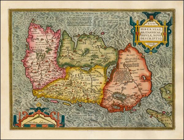 100-Ireland Map By Abraham Ortelius