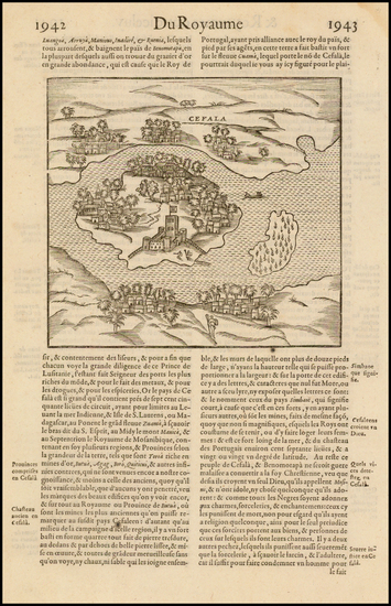 91-East Africa and African Islands, including Madagascar Map By Francois De Belleforest