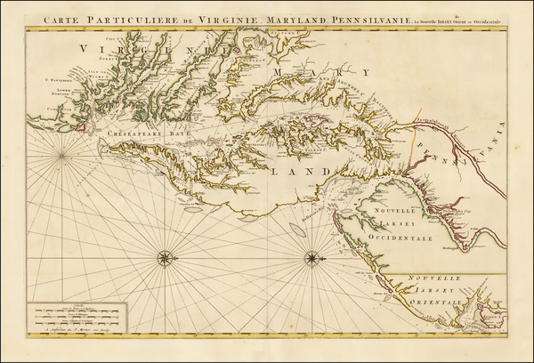 30-Mid-Atlantic, Southeast and Virginia Map By Pieter Mortier