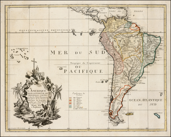 72-South America Map By Johann Walch