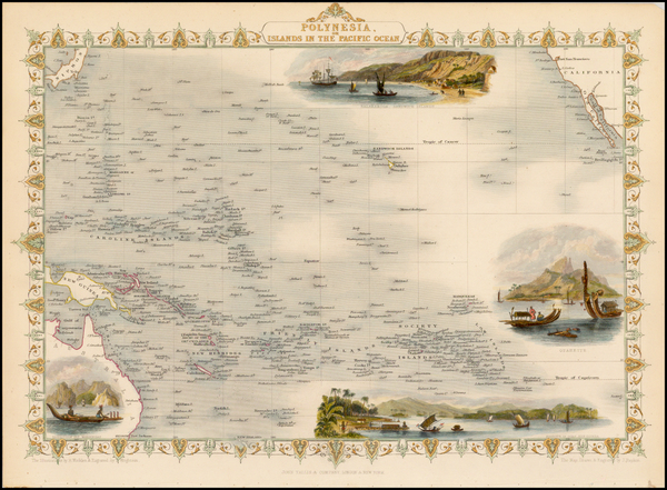 0-Pacific, Oceania, Hawaii and Other Pacific Islands Map By John Tallis