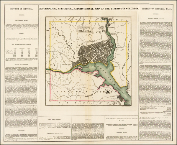 19-Mid-Atlantic and Washington, D.C. Map By Henry Charles Carey  &  Isaac Lea