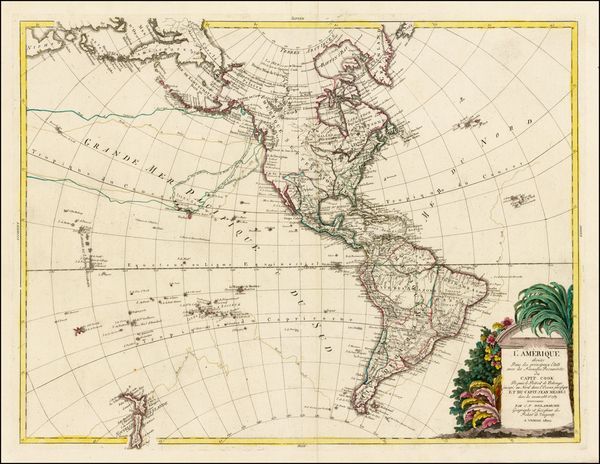 22-South America and America Map By Charles Francois Delamarche