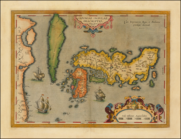 1-Japan and Korea Map By Abraham Ortelius