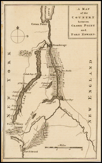 69-New England and New York State Map By Gentleman's Magazine