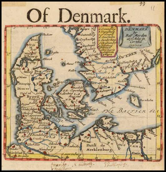 55-Scandinavia and Denmark Map By Robert Morden