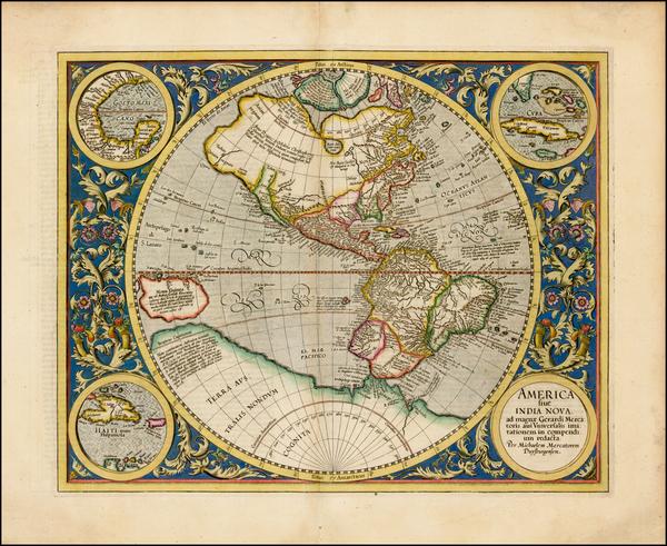54-Western Hemisphere, South America and America Map By Michael Mercator