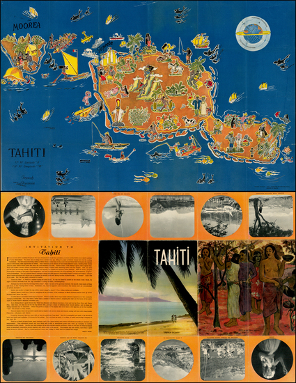 80-Other Pacific Islands and Pictorial Maps Map By Le Syndicat d'Initiative de Tahiti