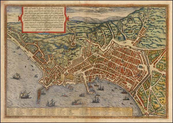 90-Italy Map By Georg Braun  &  Frans Hogenberg