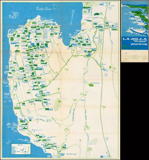 """65-California Map By Priscilla """"Pat"""" DeVore"""
