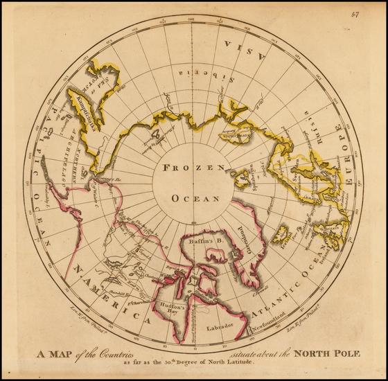 23-Polar Maps, Alaska and Canada Map By