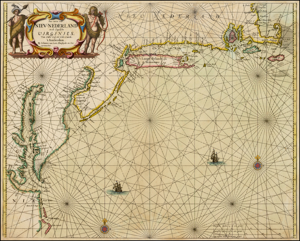 54-New England, Mid-Atlantic and Southeast Map By Johannes van Loon