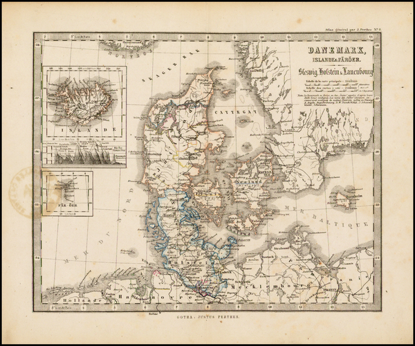 11-Scandinavia and Denmark Map By Justus Perthes