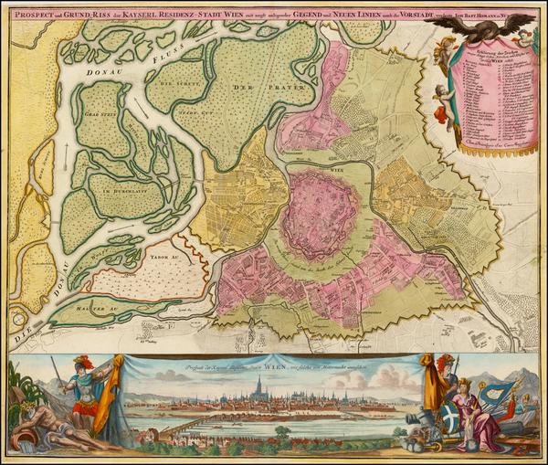 33-Austria Map By Johann Baptist Homann