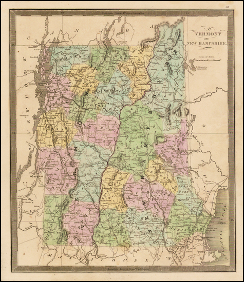 74-New Hampshire and Vermont Map By Jeremiah Greenleaf