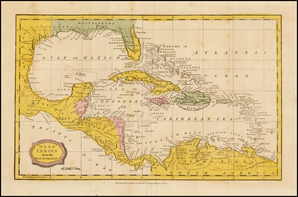 18-South, Southeast, Caribbean and Central America Map By Charles Brightly  &  E. Kinnersly