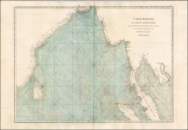 45-Indian Ocean, India, Malaysia and Thailand Map By Jean-Baptiste-Nicolas-Denis d'Après de