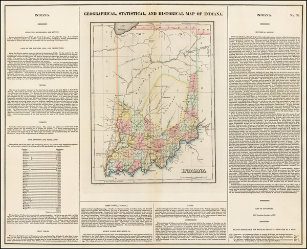 74-Midwest and Indiana Map By Henry Charles Carey  &  Isaac Lea